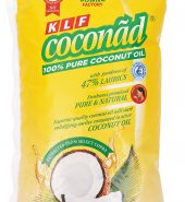 KLF COCONUT Pure Coconut Cooking Oil Pouch, 1 L