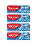 Colgate max fresh toothpaste,blue gel paste with menthol for super fresh breath,600g,150g*4(peppermint ice)
