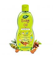 Dabur baby oil:non-sticky baby massage oil with no harmful chemicals