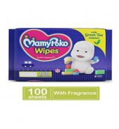 Mamypoko wipes with green tea essence pack of 100 wipes with fragrance(wipes)
