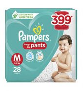 Pampers all round protection pants double extra large size baby diapers(xxl)28count,anti rash diapers,lotion with aloe vera