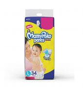 Pants standard diapers,large(pack of 34)