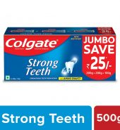 Colgate Strong Teeth Anticavity Toothpaste with Amino Shakti – 500 g Saver Pack