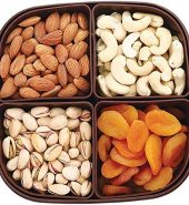 Dry Fruit Hub Dry Fruits Box with Dry Fruits 400gms, Dry Fruits Gift Box (Premium Cashew, Almonds, Pistachio Salted, & Apricot Seedless) Dry Fruit Gift Pack, Dry Fruits Box Titan